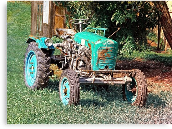 Old traditional Lindner tractor   conceptual photography by Patrick Jobst