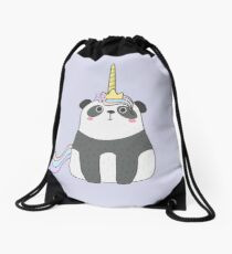 Cute Pandacorn Drawstring Bag