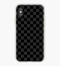 Black/Grey Checkered iPhone Case