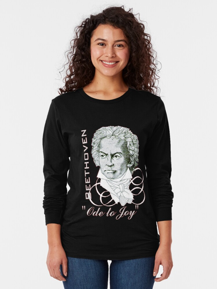 "Alternate view of Beethoven Portrait ""Ode to Joy"" Long Sleeve T-Shirt"
