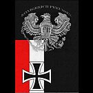 Kingdom of Prussia..old German Eagle and Iron Cross by edsimoneit