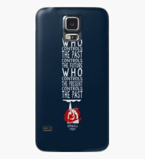 Orwell 1984  (for dark background) - who controls the past controls the future, who controls the present controls the past. Case/Skin for Samsung Galaxy