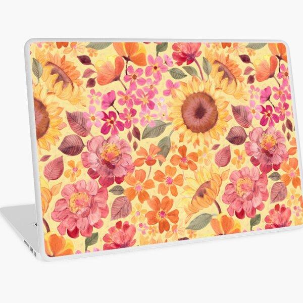 Happy Boho Sixties Floral Laptop Skin