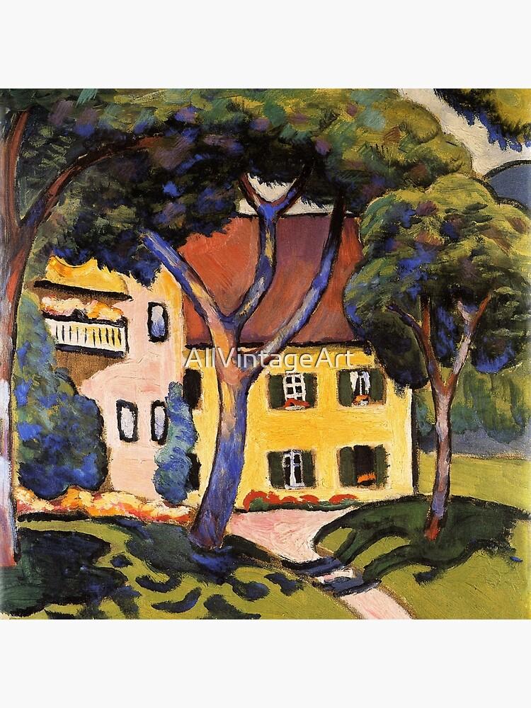 August Macke Trees Vintage Fine Art Print