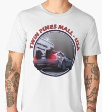 Back to the Future inspired Delorean at Twin Pines Mall, California, USA. Men's Premium T-Shirt