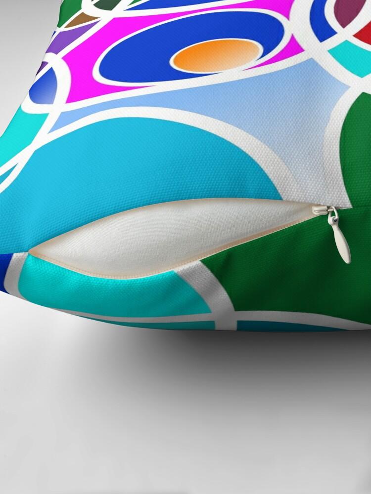 Alternative Ansicht von Bunte Ringe - Colorful rings Dekokissen