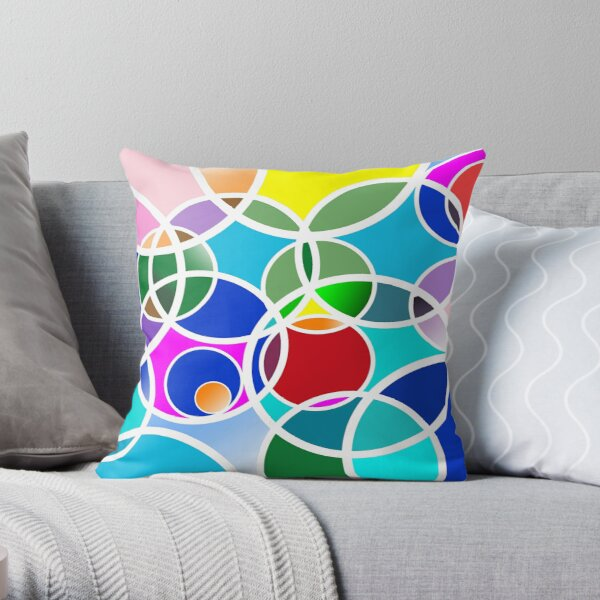 Colorful rings - Colorful rings Throw Pillow