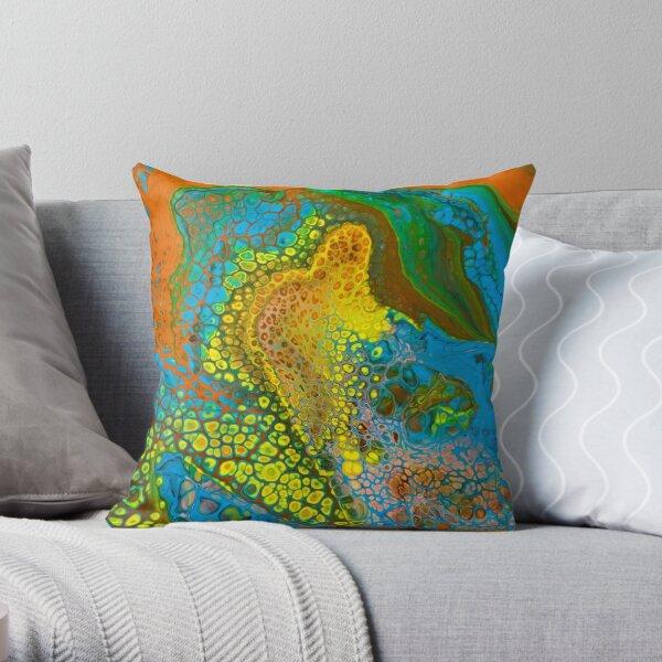Octopus Abstract Throw Pillow