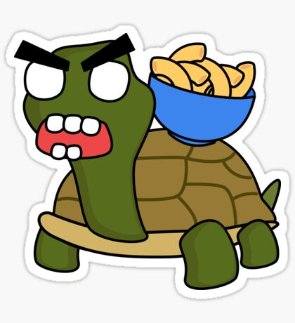 angry zombie turtle mac Sticker