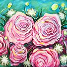 Pink Tea Roses by Amanda  Shelton