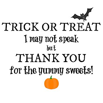 Trick or Treat Bag for Nonverbal Kids by littlemamajama