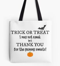 Trick or Treat Bag for Nonverbal Kids Tote Bag