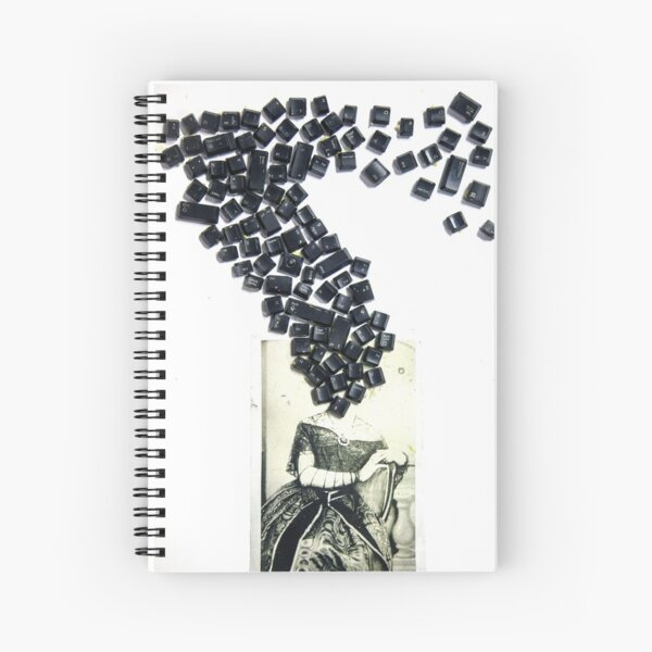 Keyboard Head Spiral Notebook