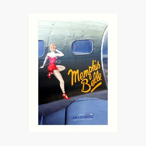 Memphis Belle Nose Art Art Print