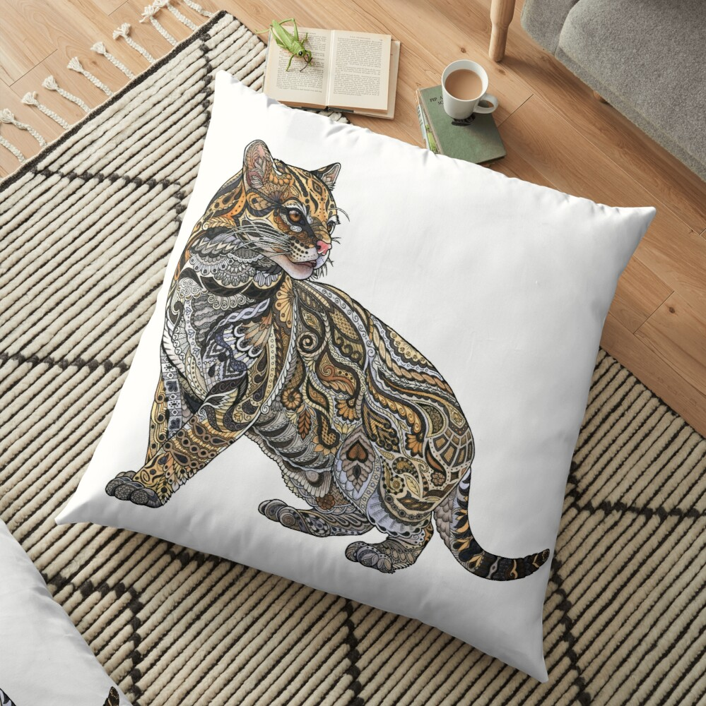 Ocelot Floor Pillow