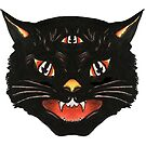 Retro Halloween Cat by Tori Thomas