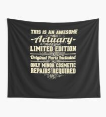 Actuary Funny Job Gift Wall Tapestry