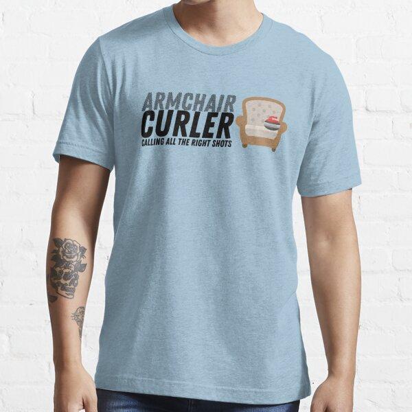 Armchair Curler - Large Logo - Black Essential T-Shirt