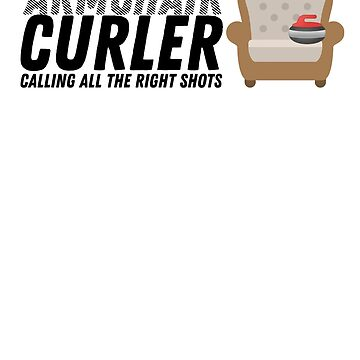 Armchair Curler - Large Logo - Black by itscurling