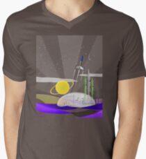 Mars Colony - Night Men's V-Neck T-Shirt