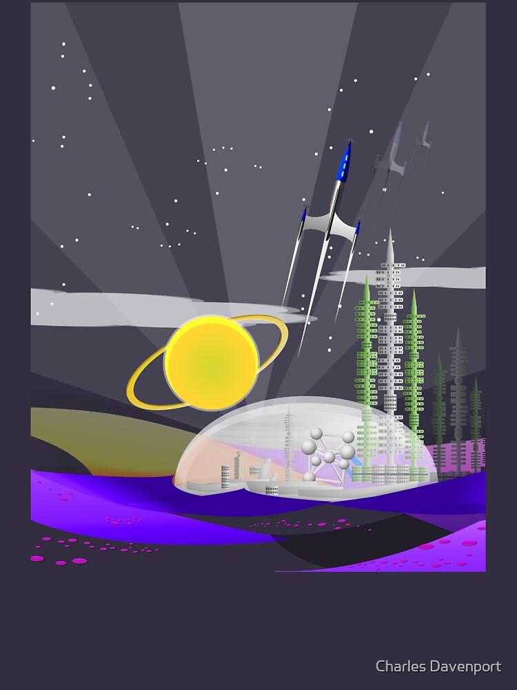Mars Colony - Night by cdavenport4