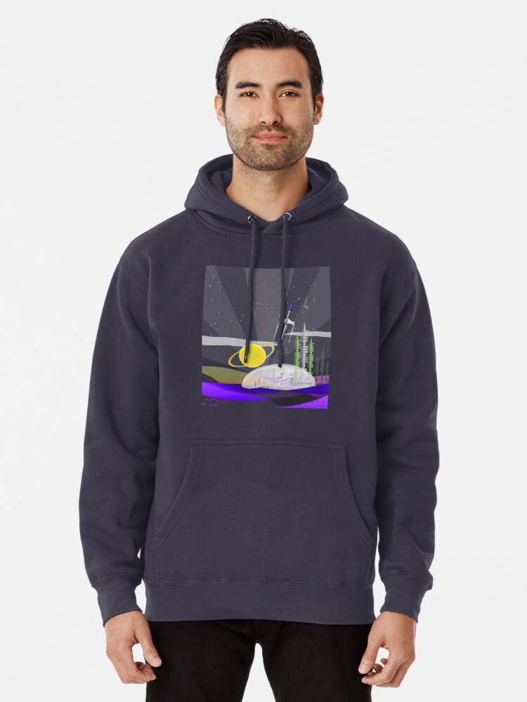 Alternate view of Mars Colony - Night Pullover Hoodie