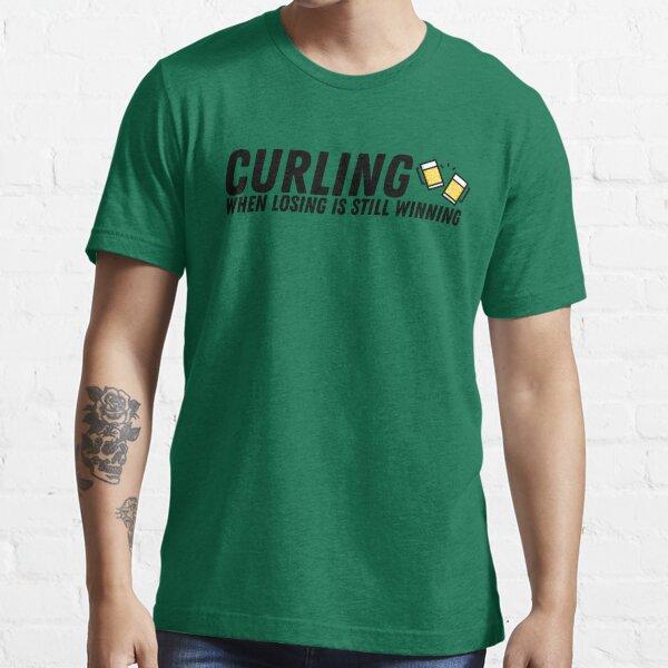 Curling - When Losing is Still Winning - Black Essential T-Shirt