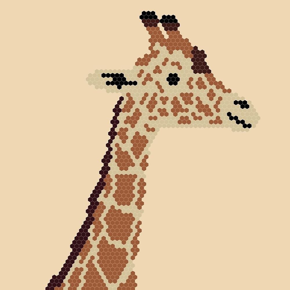 Giraffe named Pyotr-Albert by Alopexlagopus