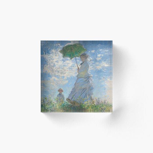 Monet - Woman with a Parasol - Classic Art Acrylic Block
