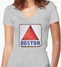 Boston Women's Fitted V-Neck T-Shirt