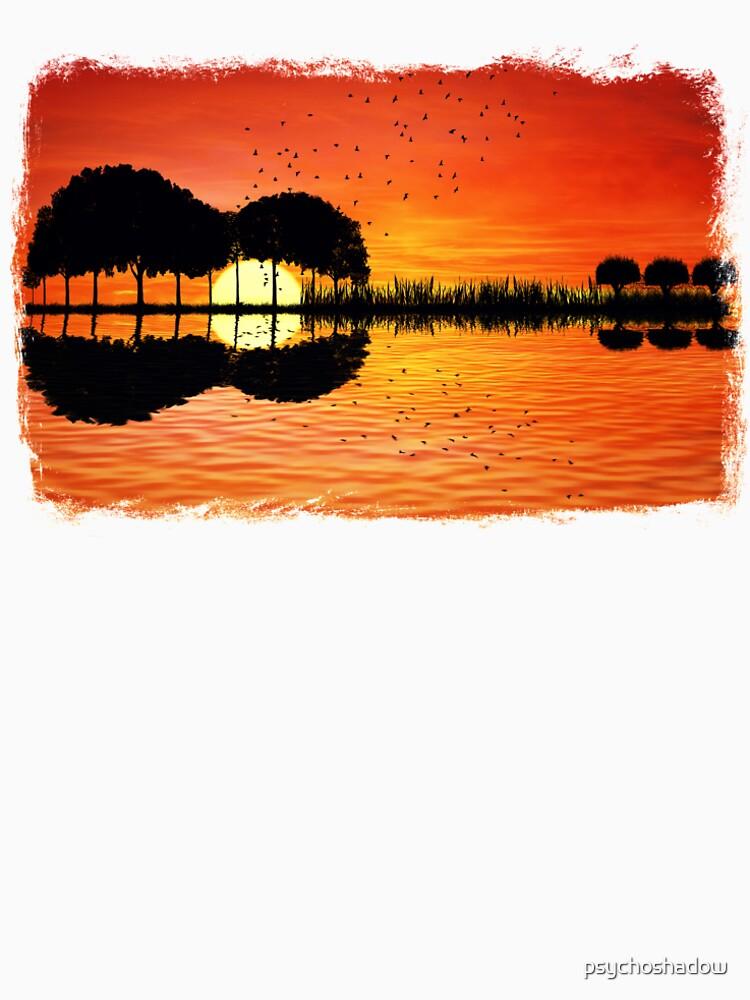puesta de sol de la isla de psychoshadow