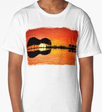 guitar island sunset Long T-Shirt