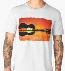 guitar island sunset Men's Premium T-Shirt