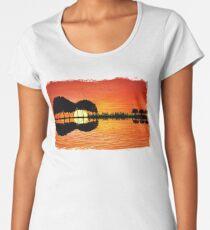 guitar island sunset Women's Premium T-Shirt