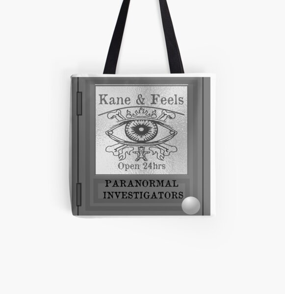 Kane and Feels: Paranormal Investigators All Over Print Tote Bag