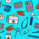 Medical Equipment Pattern by Pamela Maxwell