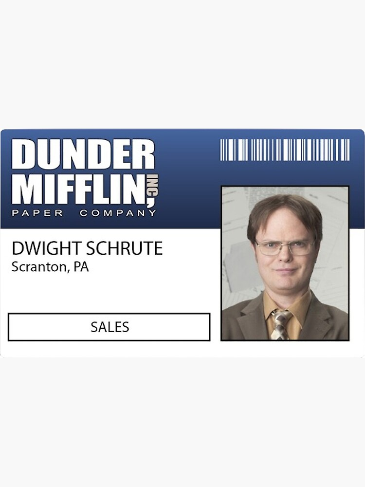 The Office Birthday Card with Dwight Business Card