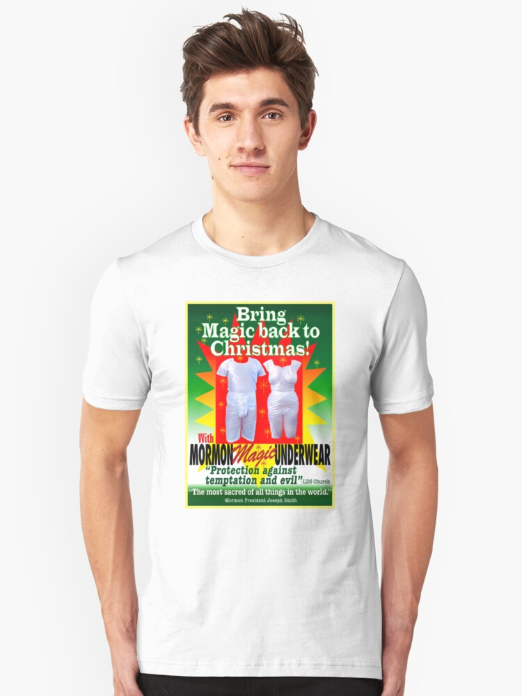 Mormon Underwearristmas Magic Unisex T Shirt By Atheistcards