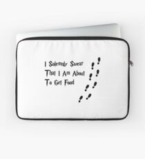 I solemnly swear that I am about to get food. Laptop Sleeve