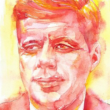 JOHN F. KENNEDY - watercolor portrait.5 by lautir