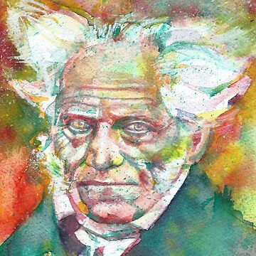 ARTHUR SCHOPENHAUER - watercolor portrait.2 by lautir