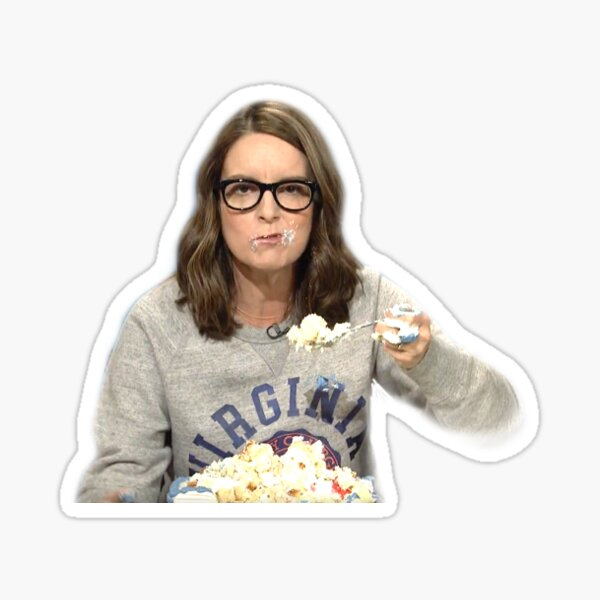 Tina Fey sheetcake Sticker