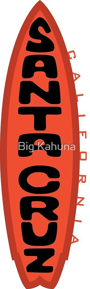 Santa Cruz Logo California Surf Board Orange Logo Sticker by Big Kahuna