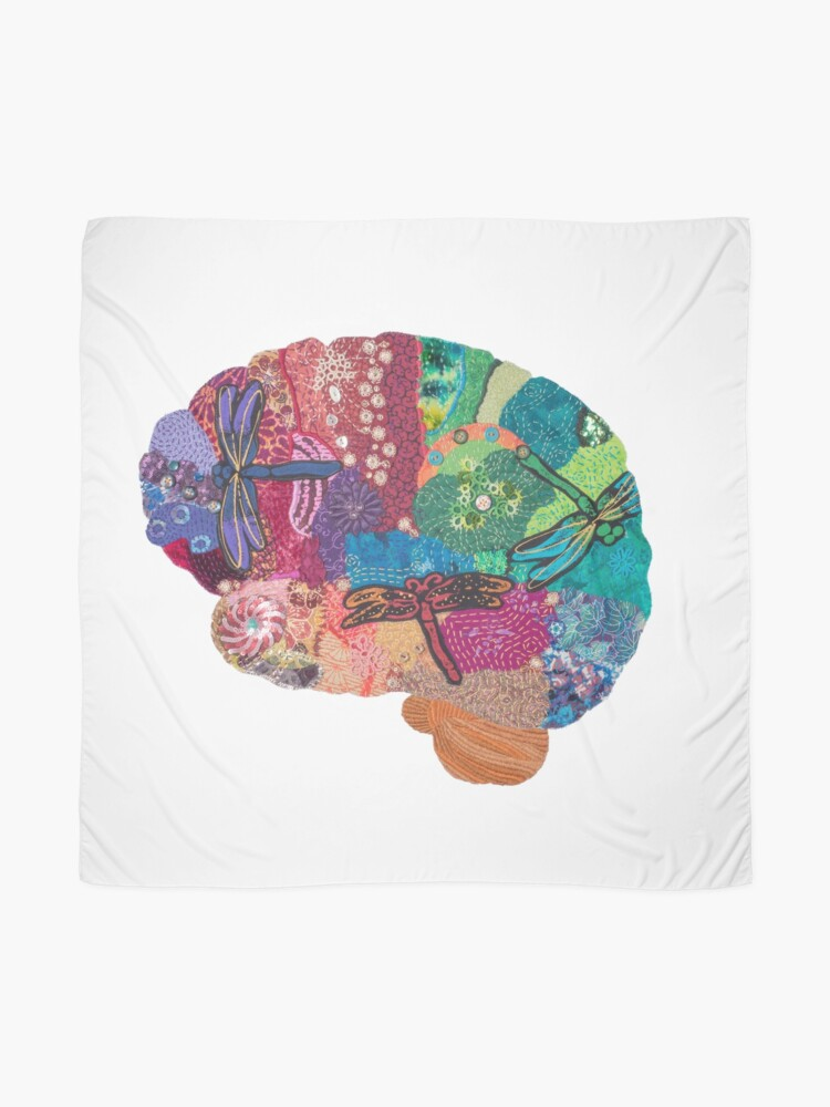Alternate view of Dragonfly Brain - Creativity and Change Scarf