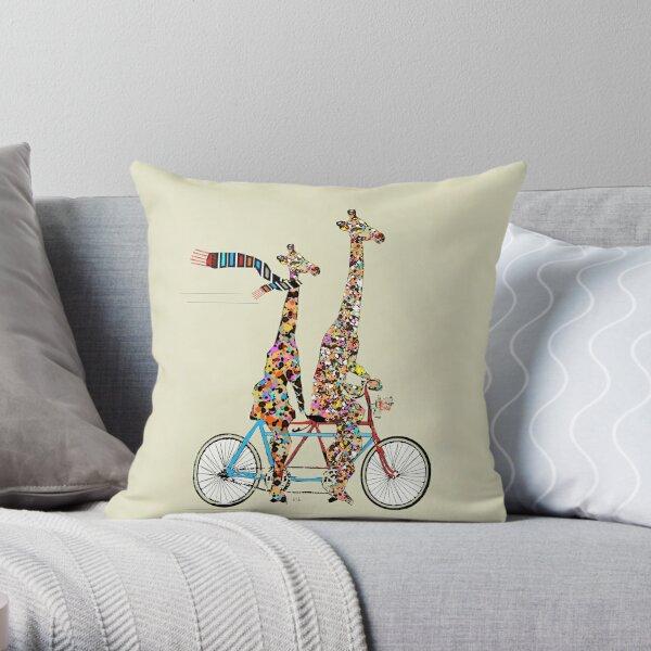 giraffes days lets tandem Throw Pillow