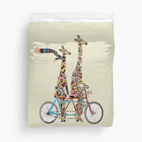giraffes days lets tandem Duvet Cover