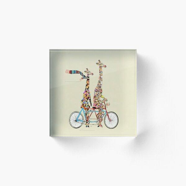 giraffes days lets tandem Acrylic Block