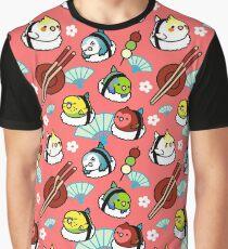 Camiseta gráfica Tiempo de sushi con Cody the Lovebird & Friends