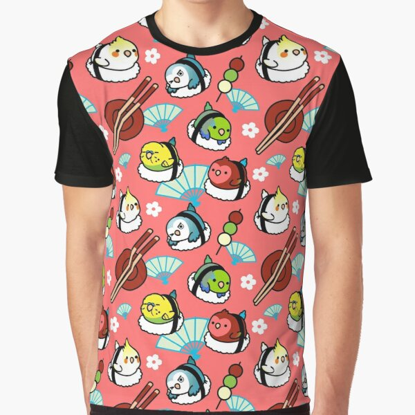 Sushi Time with Cody the Lovebird & Friends Graphic T-Shirt
