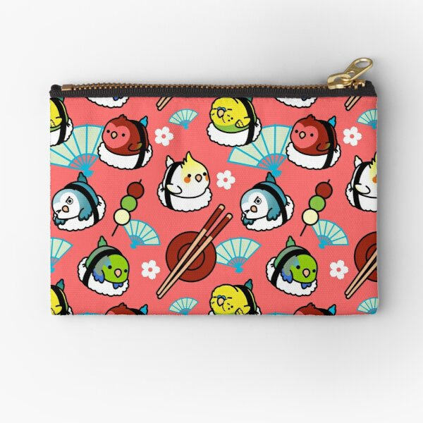 Sushi Time with Cody the Lovebird & Friends Zipper Pouch